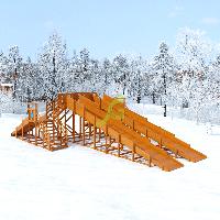 Зимняя горка Snow Fox, 4 ската