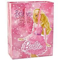 """Подарочный пакет Бумажный """"Barbie"""", 33x46х20 см."""