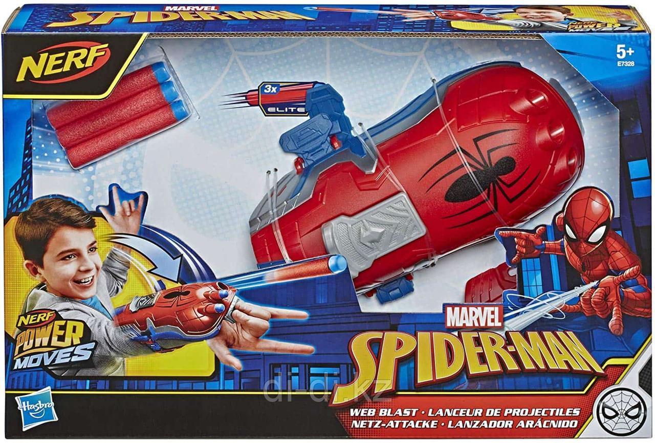 Игрушка NERF бластер БЛАСТЕР NERF MARVEL SPIDER-MAN WEB BLAST
