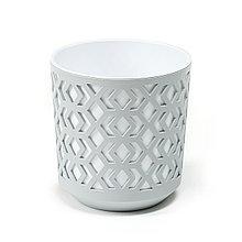 Горшок AZTEK Lamela 300 - к / белый + ж / светло-серый