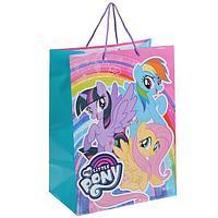 """Подарочный пакет Бумажный """"My Little Pony"""", 33х46х20 см."""