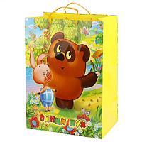 """Подарочный пакет Бумажный """"Винни Пух"""", 33х46х20 см."""