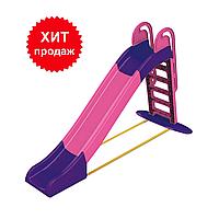 Большая детская горка Doloni 014550/3 розовый