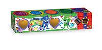 Пальчиковые краски для детей 4 цвета в банках
