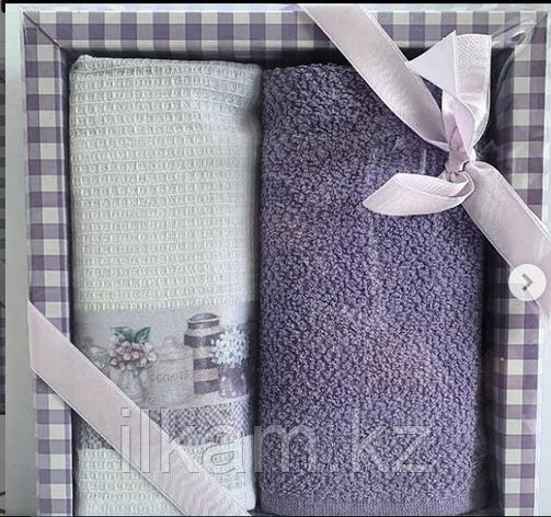 """Подарочный набор полотенец """"Вафельно-махровый """", фото 2"""