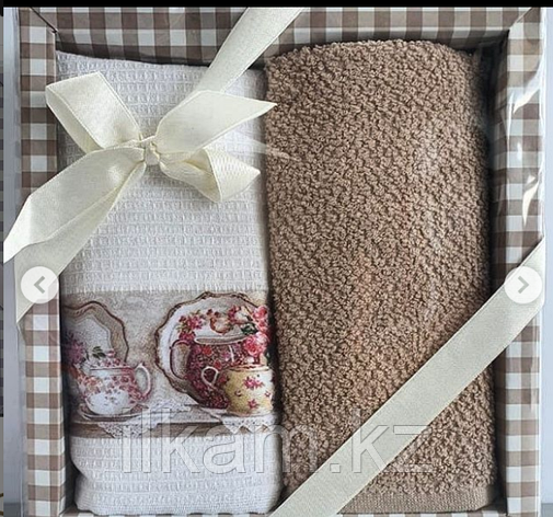 """Подарочный набор полотенец """"Чай с молоком """", фото 2"""