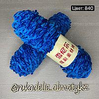 Пряжа для ручного вязания ,плюшевая ультрамариновый