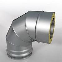 Отвод Термо (430, t0.5/ОЦ, t0,5) 90º d100/D200 (РАСТРУБ)