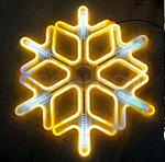Светодиодная LED снежинка 60 см, фото 2
