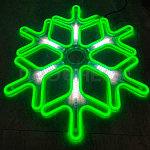 Светодиодная LED снежинка 60 см, фото 3