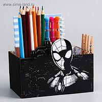 "Органайзер для канцелярии ""Супергерой"", Человек-паук, 150 х 100 х 80 мм"