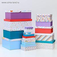 Набор коробок подарочных 15 в 1 «Поздравляю!», 12 х 7 х 4 см - 46,6 х 35,2 х 17.5 см
