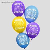 """Воздушные шары """"Happy birthday"""", Щенячий патруль 12 дюйм (набор 25 шт)"""
