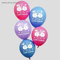 """Воздушные шары """"С Днем Рождения!"""", Единорог, Минни Маус 12 дюйм (набор 50 шт)"""