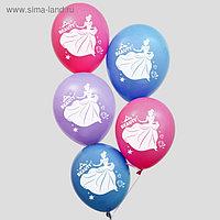 """Воздушные шары """"С Днем Рождения!"""", Принцессы 12 дюйм (набор 50 шт)"""