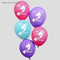 """Воздушные шары """"С Днем Рождения!"""", Русалочка, Принцессы 12 дюйм (набор 50 шт)"""