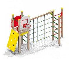Детский спортивный комплекс с баскетбольным щитом