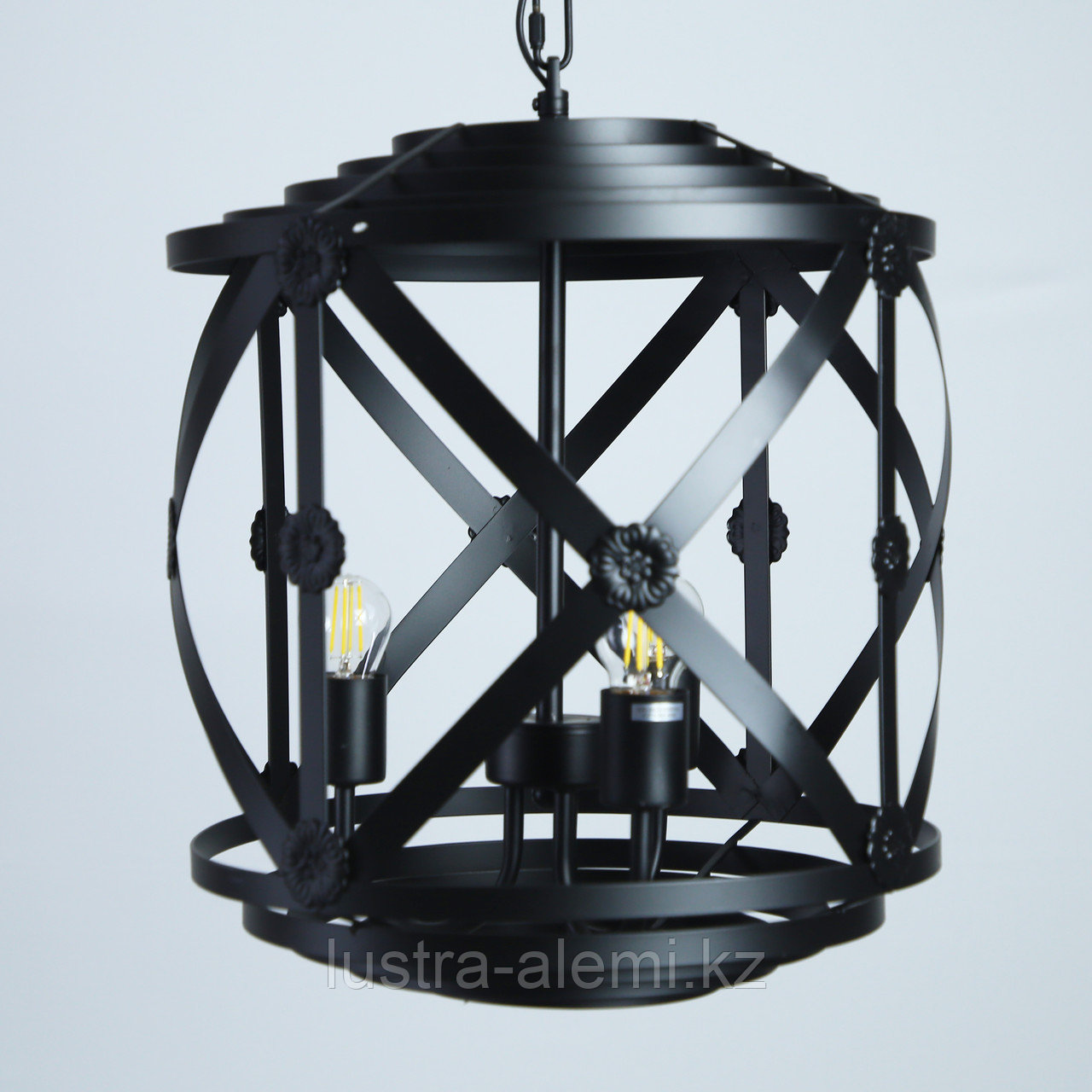 Люстра Подвесная 6512/3H METAL BLACK 3XE27 D350*H41 (ASYA-AVIZE)