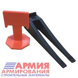 СВП - система выравнивания плитки, комплект: зажимы, клинья (50/50 шт) в упаковке