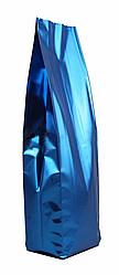 Пакет дой пак металлизированный синий матовый с центральным швом (двухшовный)