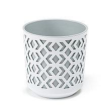 Горшок AZTEK Lamela 190 - к / белый + ж / светло-серый