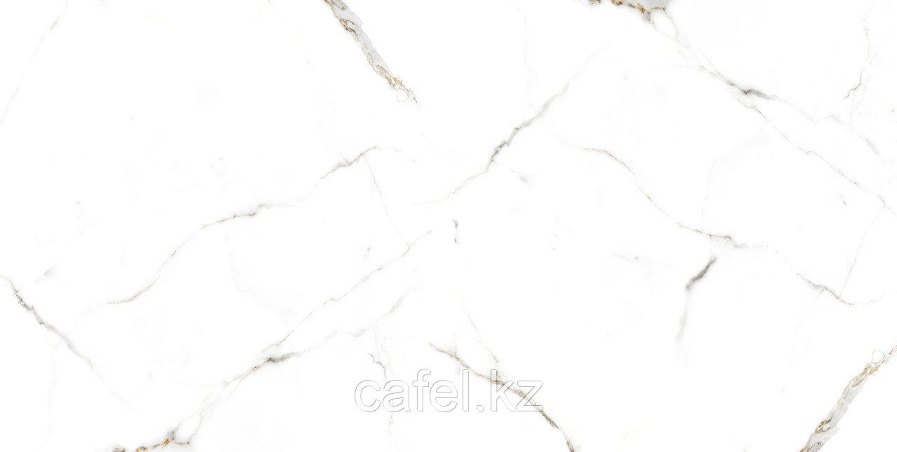 Керамогранит 120х60 Калакатта Марбл | Calacatta Marble белый глянцевый