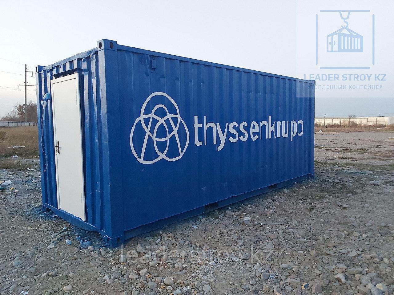Складской контейнер из 20 фут. контейнера (Мастерская)