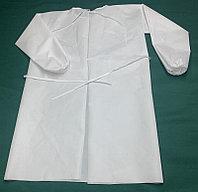 Халат одноразовый нестерильный на завязках, 40 гр.