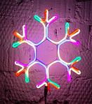 Светодиодная LED снежинка 40 см, фото 4