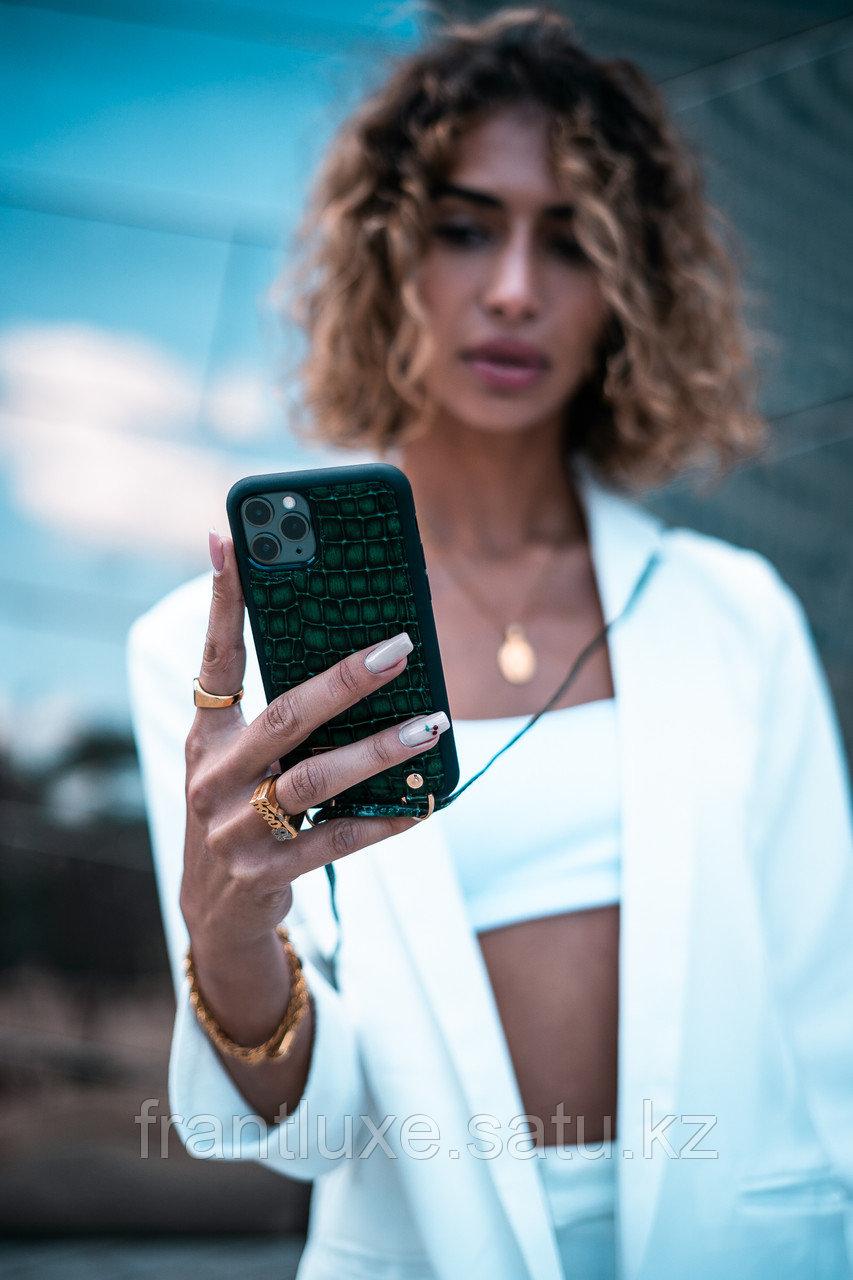 Чехол для телефона iPhone 11 Pro Max Finger-holder Green - фото 3