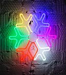 Светодиодная снежинка 60см, фото 2