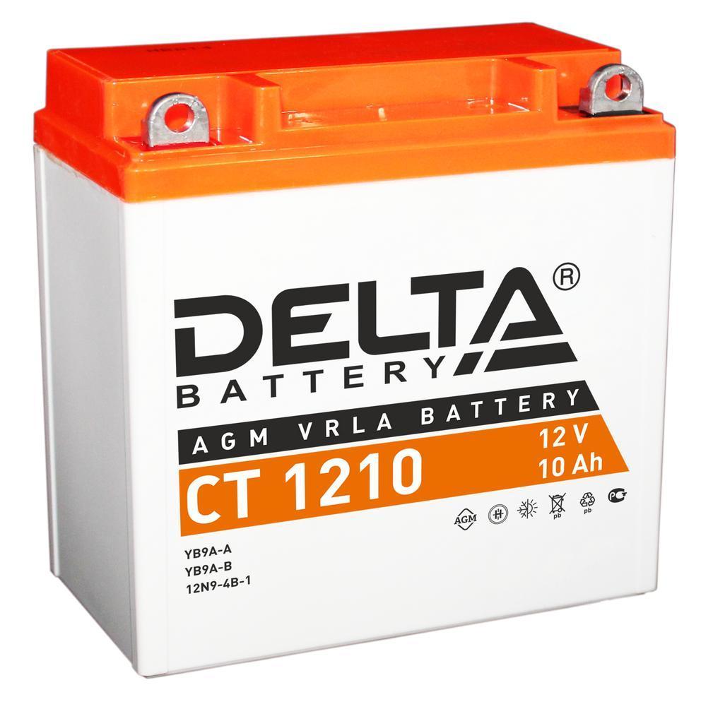 Мото-аккумулятор Delta CT 1210 AGM VRLA 12V 10Ah