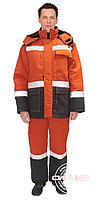 """Костюм """"Магистраль-3"""" зимний куртка п/комб. оранж/синий с СОП 50мм."""