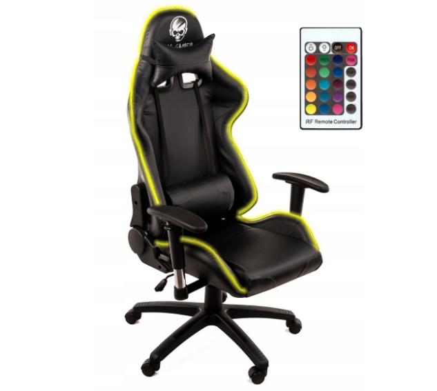 Кресло геймерское игровое HELL-GAMER C58J LED RGB