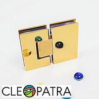 Петля для стеклянных дверей 180 гр золото