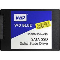 Твердотельный накопитель 500GB SSD WD WDS500G2B0A Серия BLUE 3D NAND 2.5 SATA3 R560Mb-s, W530MB-s.
