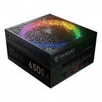 Блок питания ПК 780W GAMDIAS ASTRAPE P1-650G 80PLUS GOLD 650W, RGB, APFC,135mmFAN