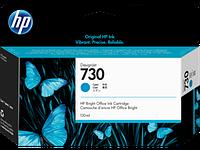 Струйный картридж HP P2V62A 730 для HP DesignJet, 130 мл, голубой