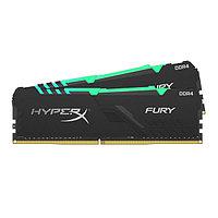 Комплект модулей памяти, Kingston, HyperX Fury RGB HX430C15FB3AK2-16 (в комплекте 2 шт), DDR4, 16GB (2x8GB),