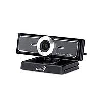 Веб-Камера, Genius, WideCam F100, USB 2.0, 1920x1080, 2.0Mpx, Микрофон, Крепление: зажим, Чёрный