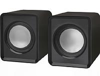Колонки стерео Defender SPK-22 Черные USB. Колонки не требуют сетевого источника питания. Просто подключите