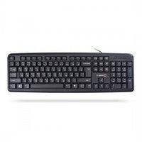 Клавиатура, X-Game, XK-100UB, Ультратонкая, USB, Анг-Рус-Каз, Чёрный