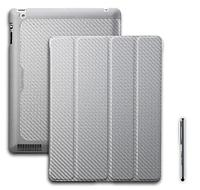 Wake Up Folio Carbon Texture (C-IP3F-CTWU-SS) футляр для iPad 2, iPad 3 и iPad 4-го поколения с функцией
