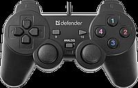 Геймпад Defender Omega USB, 12 кнопок, 2 стика, Прекрасная модель для начинающих геймеров. При доступной цене