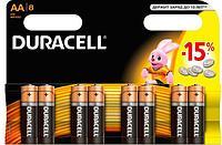 Батарейка DURACELL Basic AA 8шт