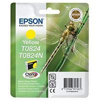 Картридж Epson C13T11244A10 (0824) R270-290-RX590 желтый