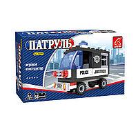 Игровой конструктор, Ausini, 23201, Патруль, Полицейский фургон, 58 деталей, Цветная коробка
