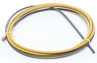 Канал стальной 1,2-1,6 мм, 3.4м (желтый) (спираль)