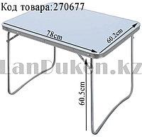 Складной стол для пикника с алюминиевой окантовкой водостойкий пластик Nika CCT-4 780х602 мм