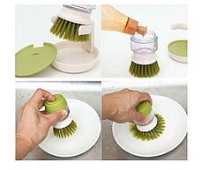 Щетка для мытья посуды с дозатором моющего средства. Черная Пятница!, фото 2
